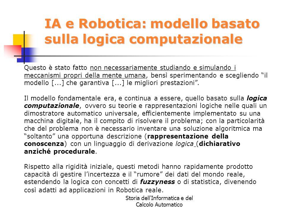 IA e Robotica: modello basato sulla logica computazionale