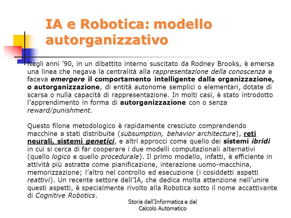 IA e Robotica: modello autorganizzativo