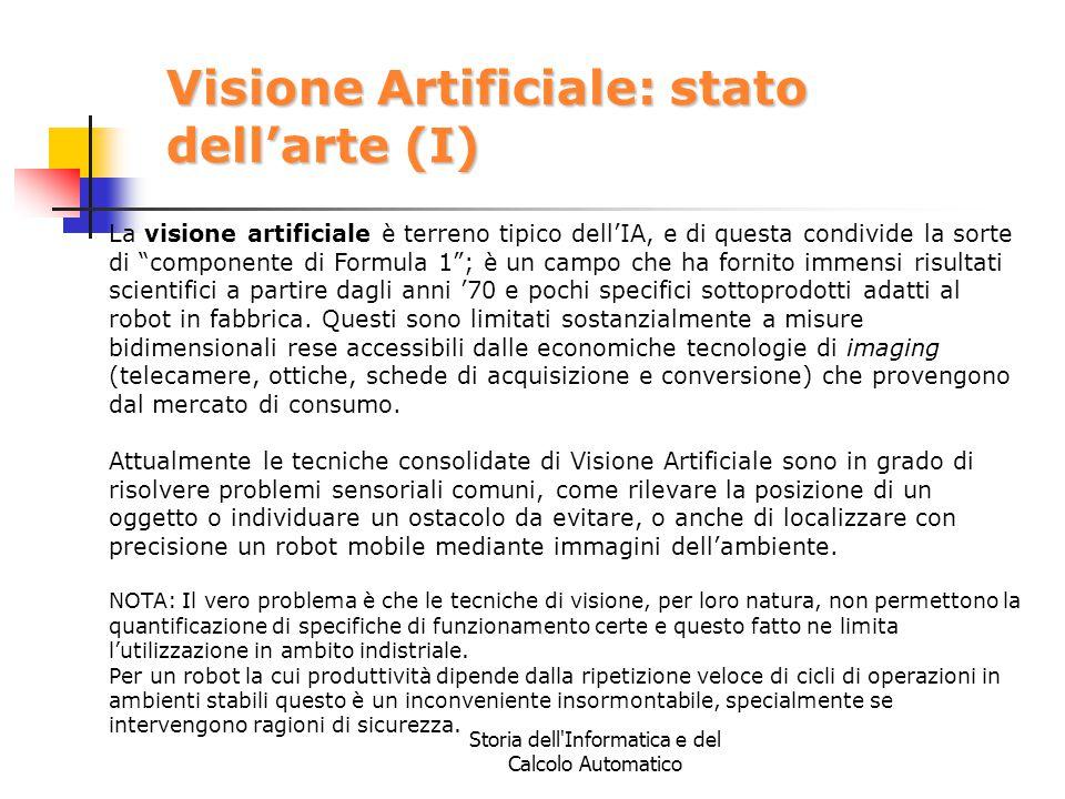 Visione Artificiale: stato dell'arte (I)