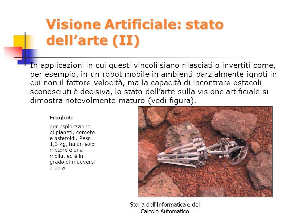 Visione Artificiale: stato dell'arte (II)