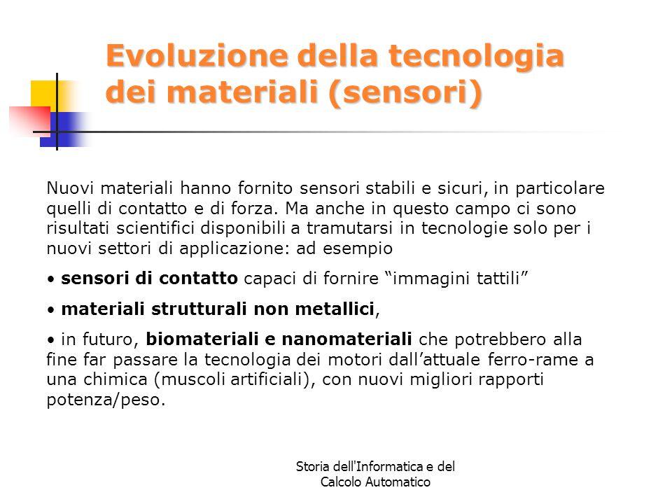 Evoluzione della tecnologia dei materiali (sensori)