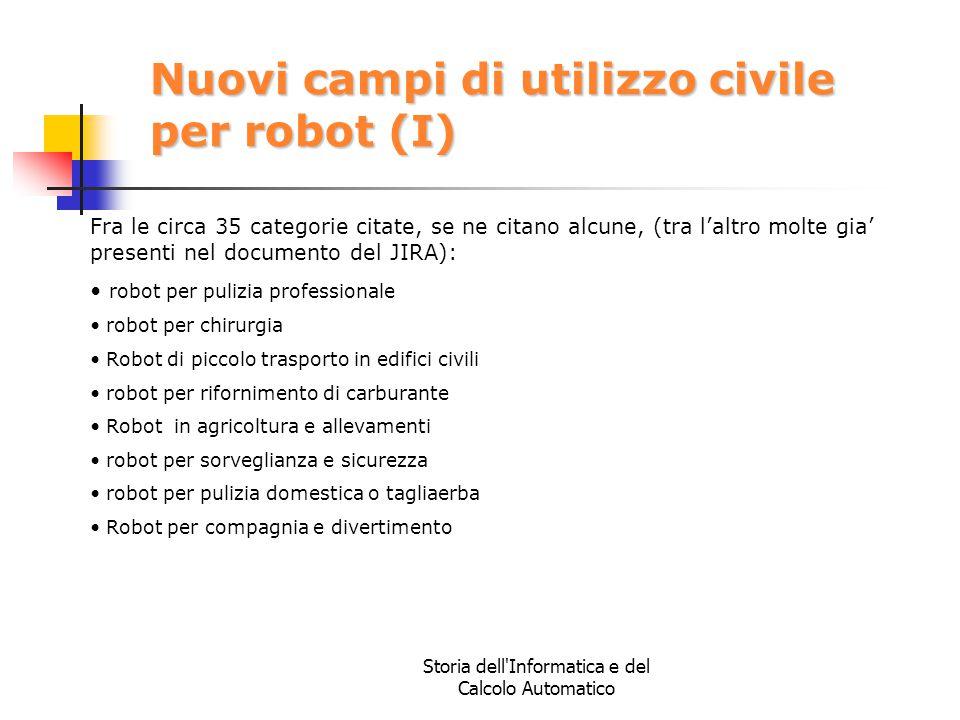 Nuovi campi di utilizzo civile per robot (I)