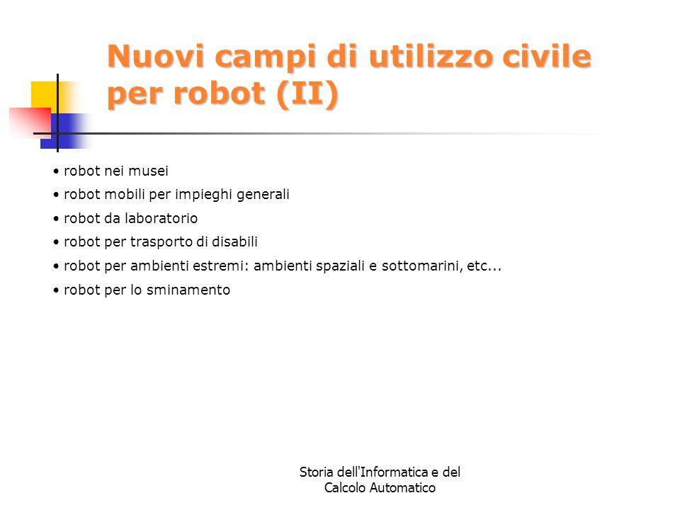 Nuovi campi di utilizzo civile per robot (II)