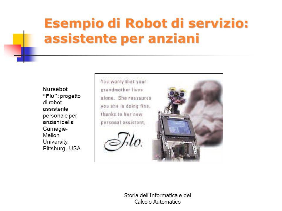 Esempio di Robot di servizio: assistente per anziani