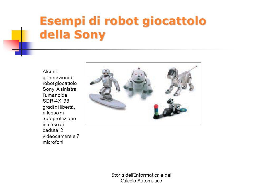 Esempi di robot giocattolo della Sony