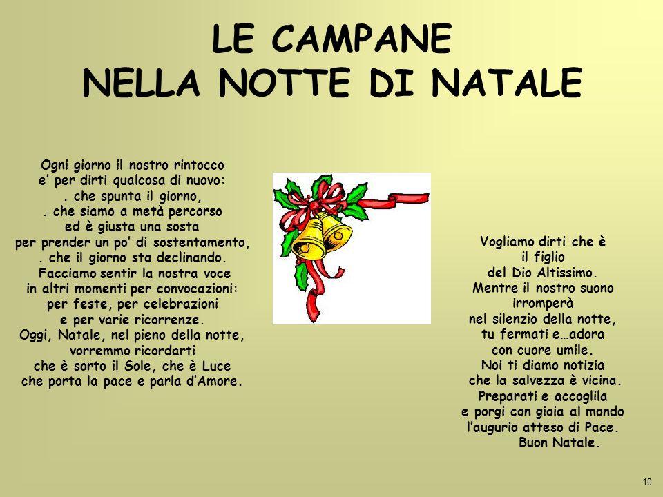 LE CAMPANE NELLA NOTTE DI NATALE