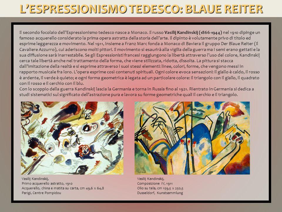 L'ESPRESSIONISMO TEDESCO: BLAUE REITER