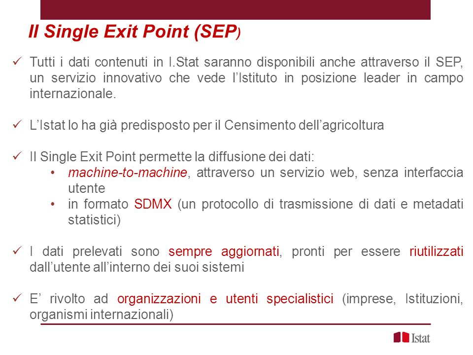 Il Single Exit Point (SEP)