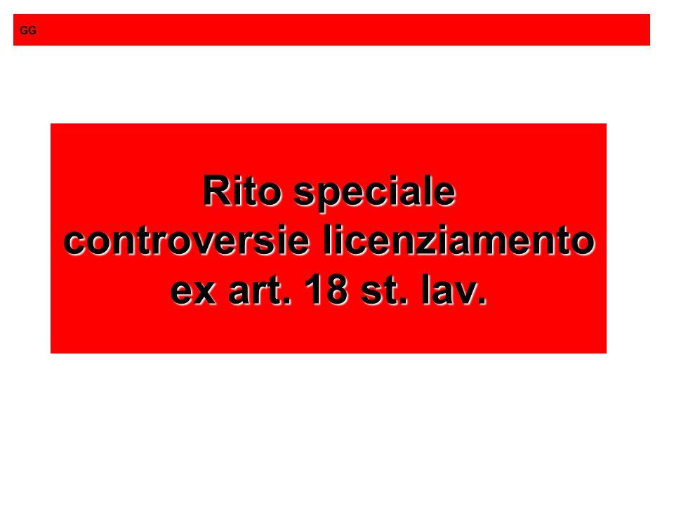 Rito speciale controversie licenziamento ex art. 18 st. lav.
