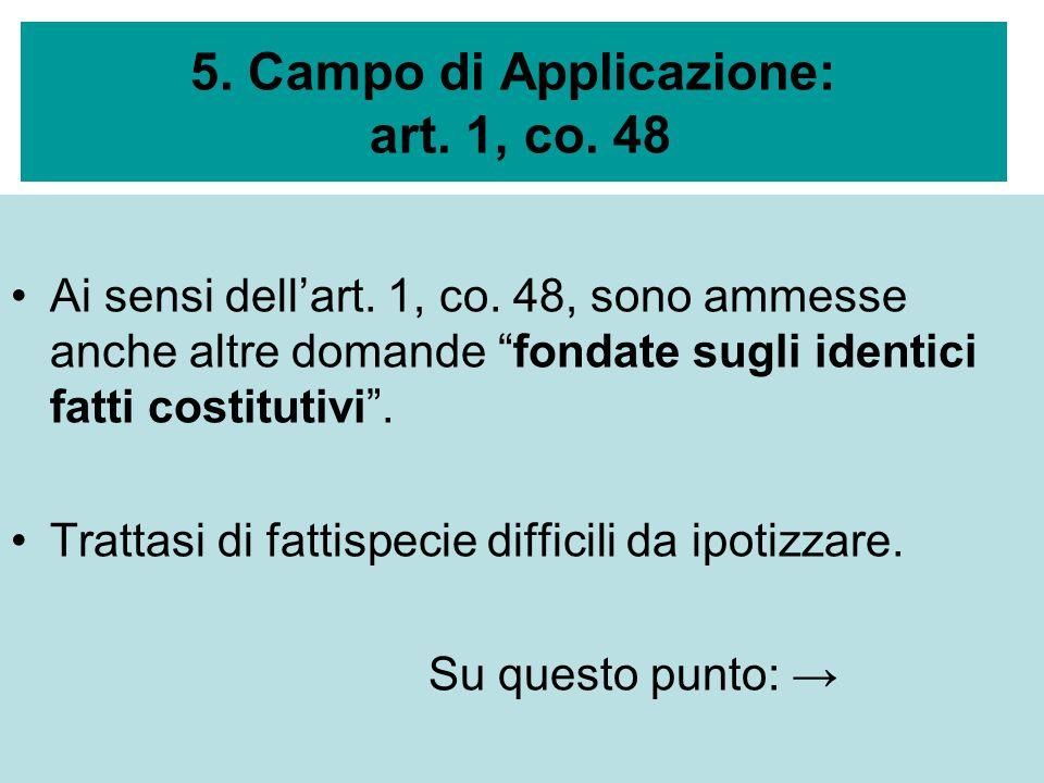 5. Campo di Applicazione: art. 1, co. 48