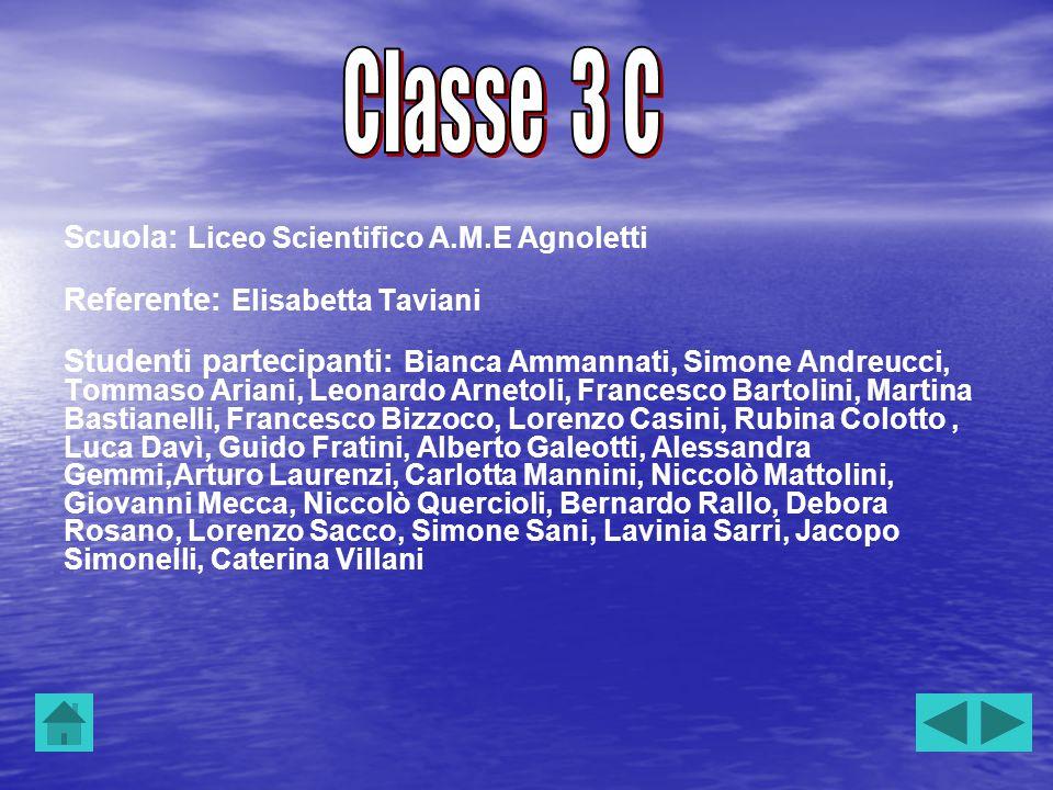 Classe 3 C Scuola: Liceo Scientifico A.M.E Agnoletti