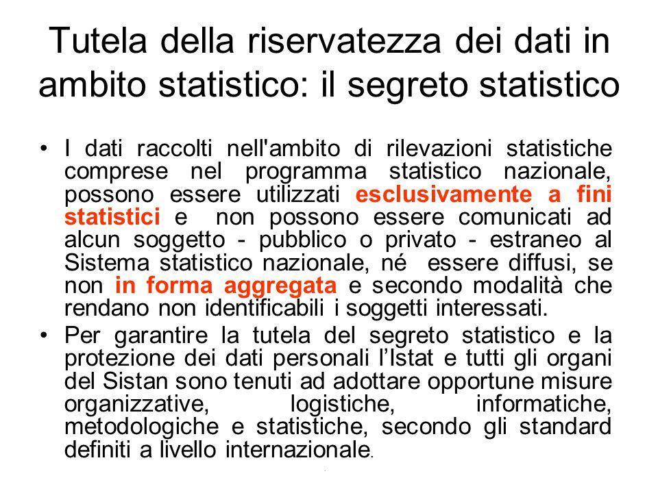 Tutela della riservatezza dei dati in ambito statistico: il segreto statistico