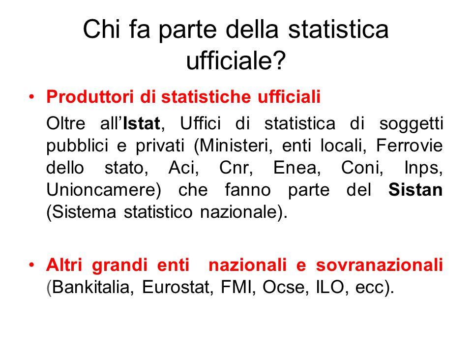 Chi fa parte della statistica ufficiale