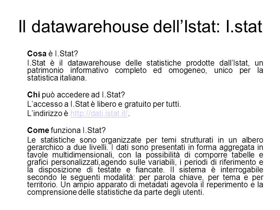 Il datawarehouse dell'Istat: I.stat