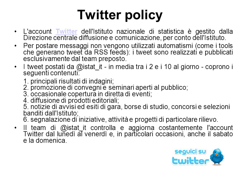 Twitter policy