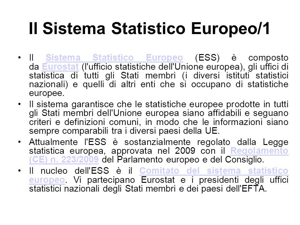 Il Sistema Statistico Europeo/1