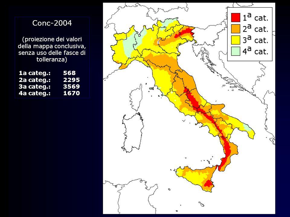 Conc-2004 (proiezione dei valori della mappa conclusiva,