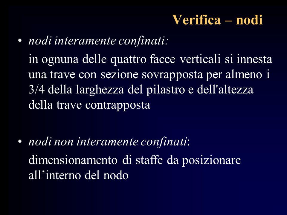 Verifica – nodi nodi interamente confinati: