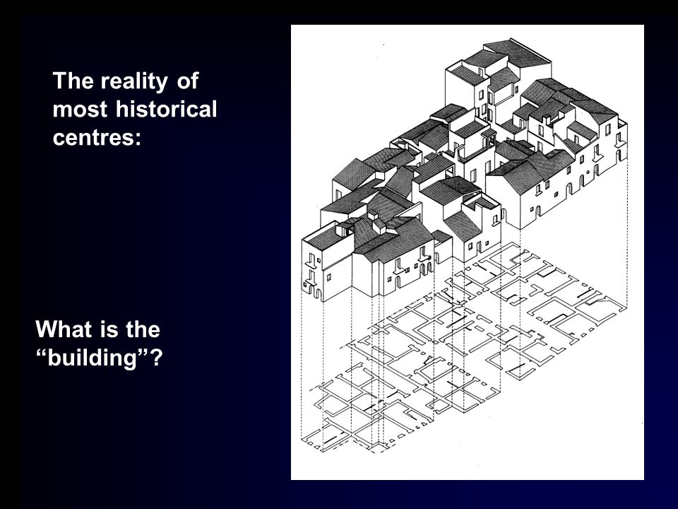 The reality of most historical centres: