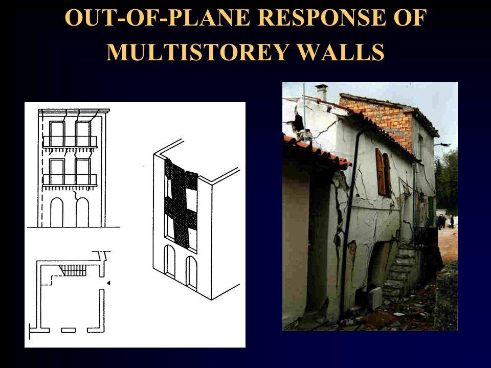 OUT-OF-PLANE RESPONSE OF MULTISTOREY WALLS