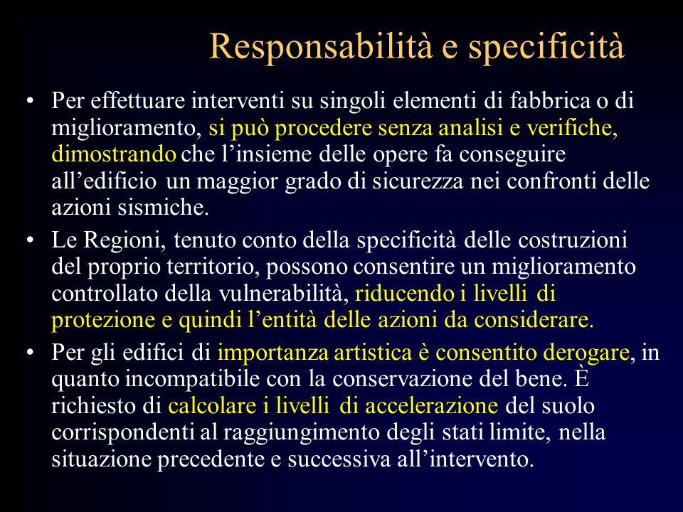 Responsabilità e specificità
