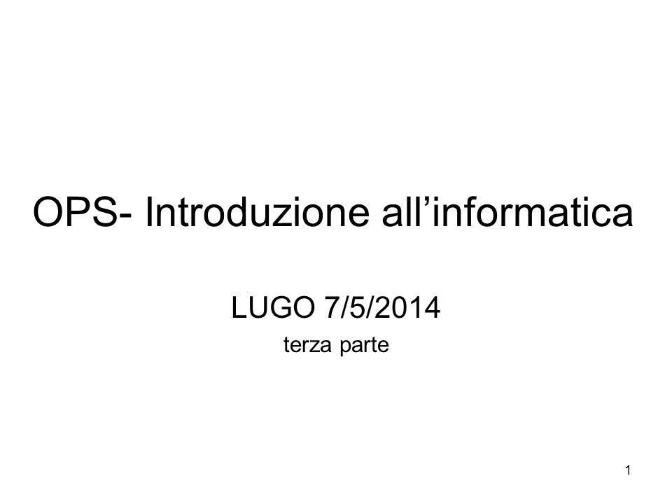OPS- Introduzione all'informatica