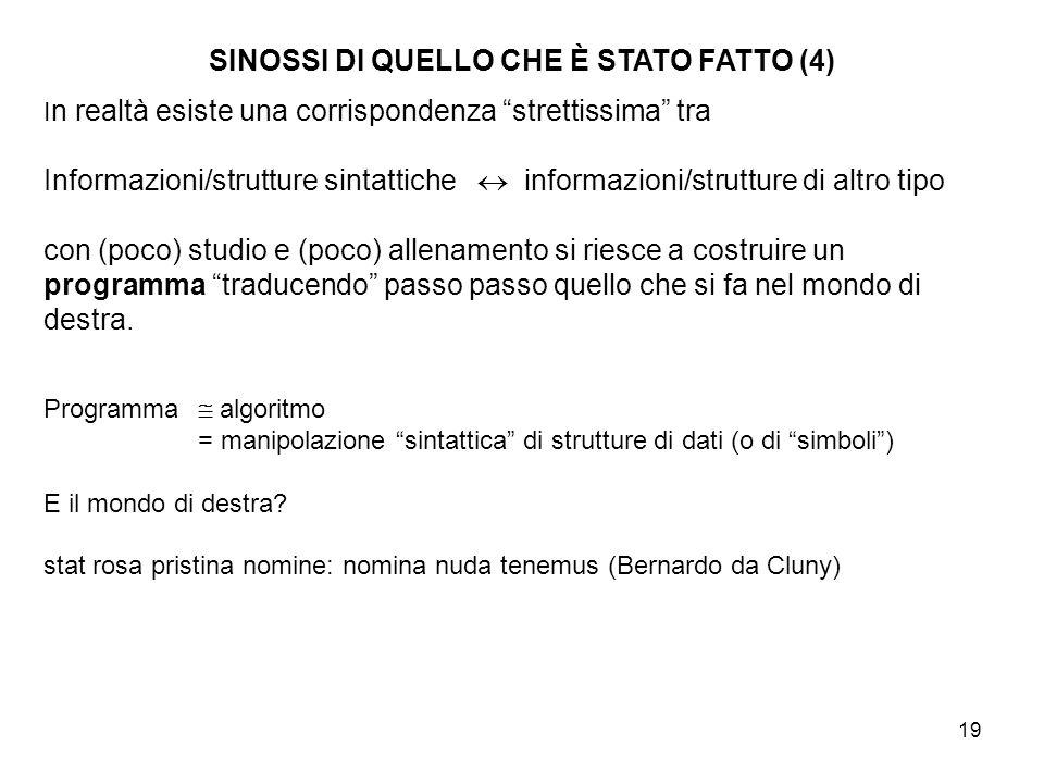 SINOSSI DI QUELLO CHE È STATO FATTO (4)
