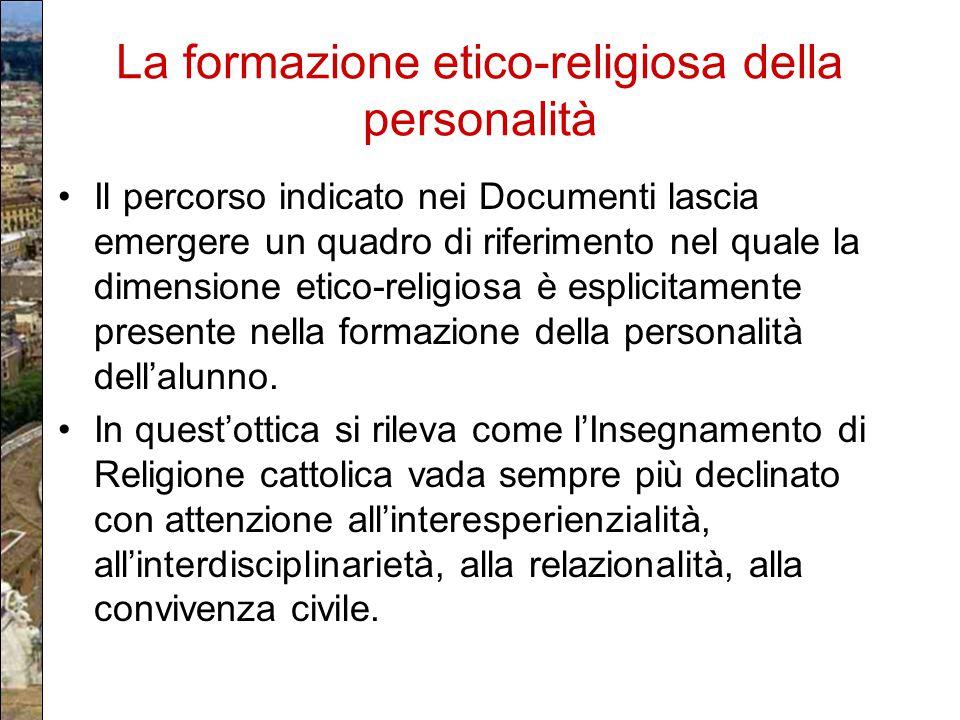 La formazione etico-religiosa della personalità