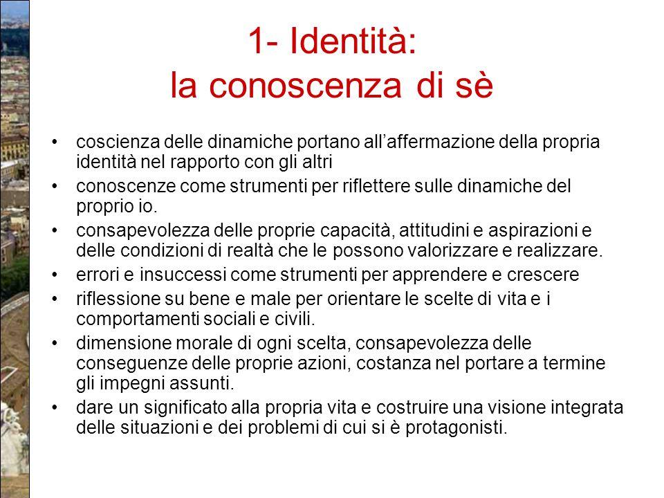 1- Identità: la conoscenza di sè