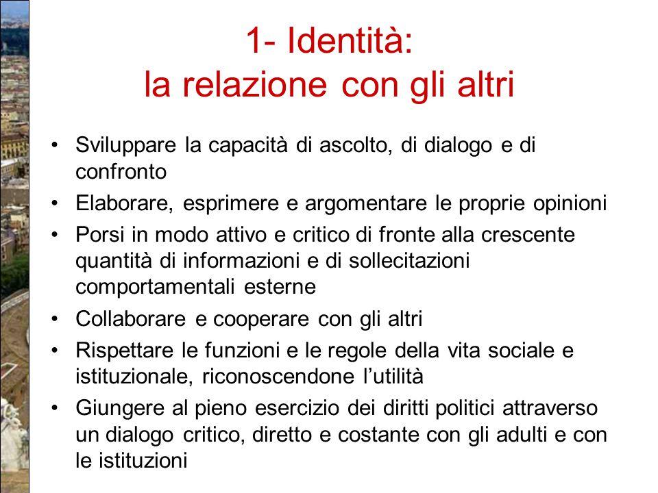 1- Identità: la relazione con gli altri