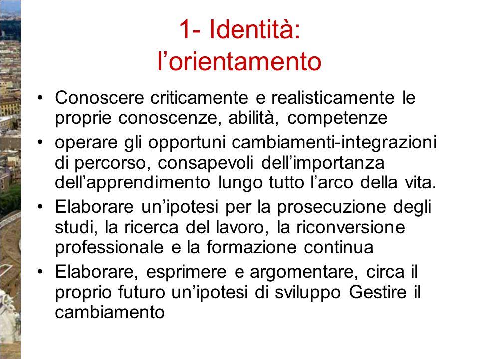 1- Identità: l'orientamento