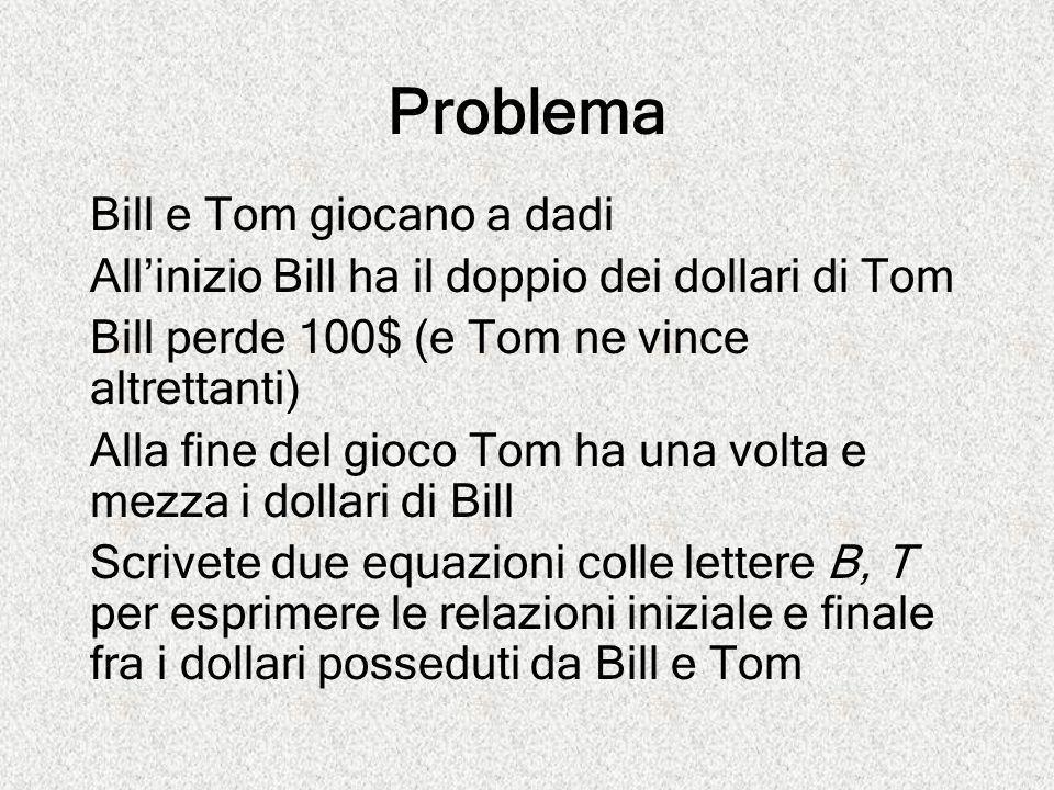 Problema Bill e Tom giocano a dadi