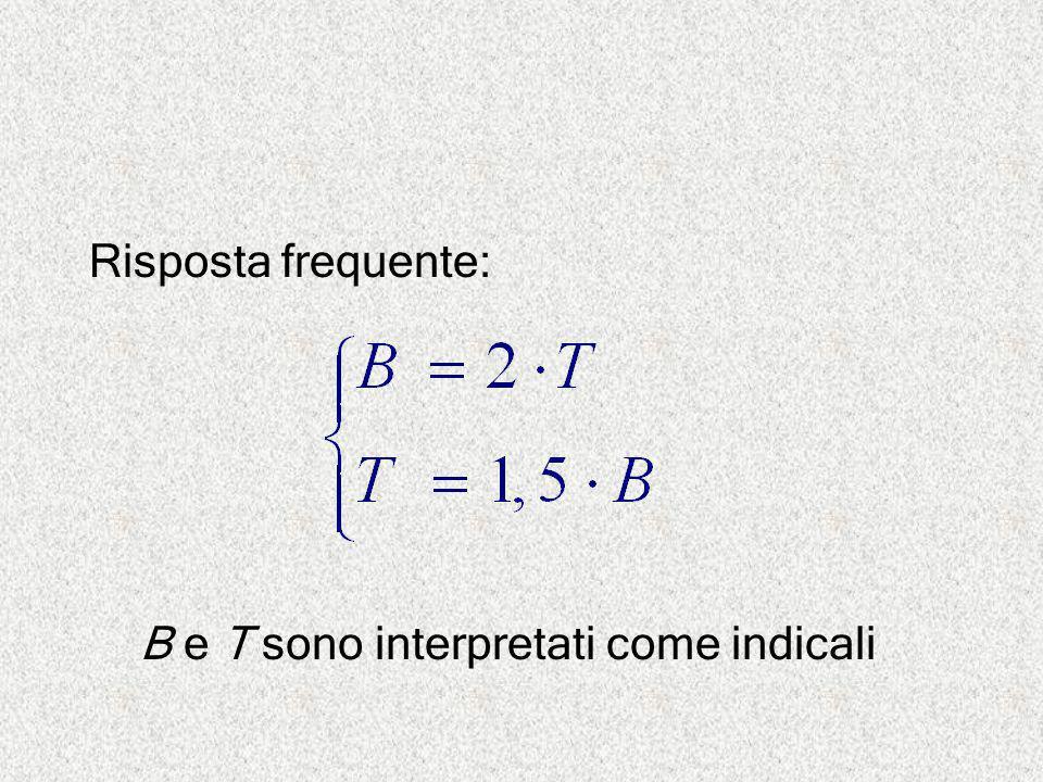 B e T sono interpretati come indicali