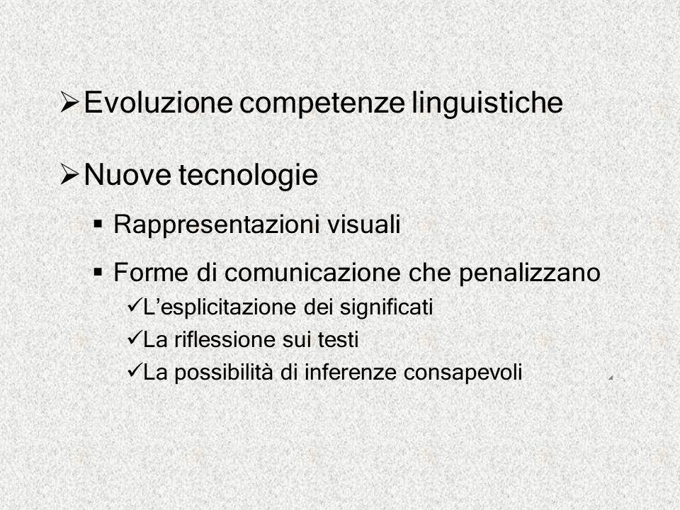 Evoluzione competenze linguistiche Nuove tecnologie