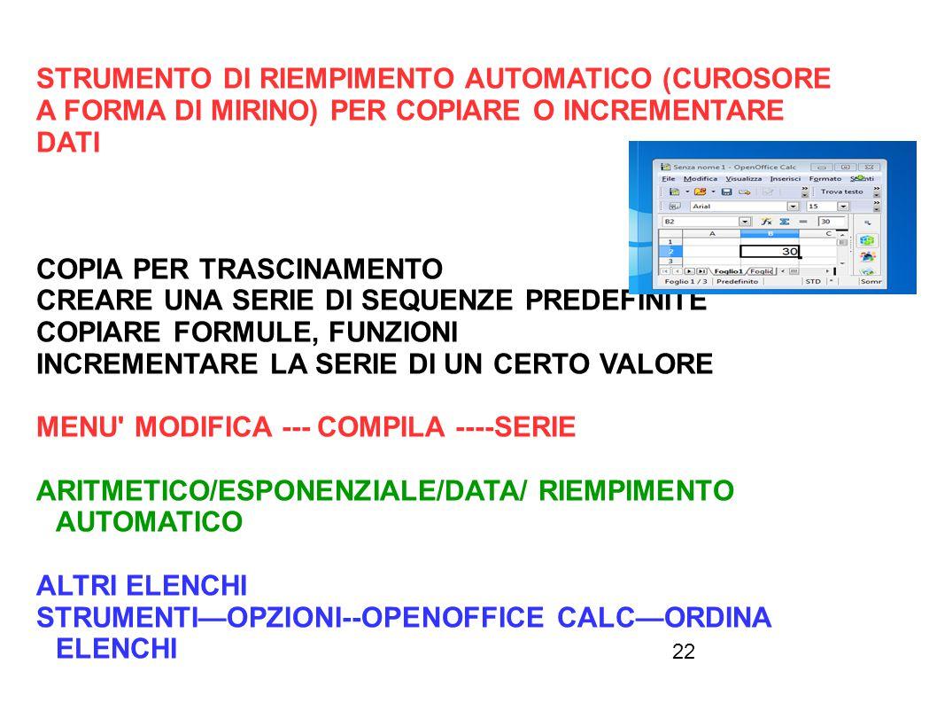 STRUMENTO DI RIEMPIMENTO AUTOMATICO (CUROSORE