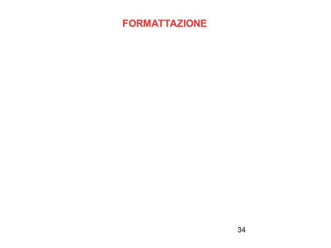FORMATTAZIONE