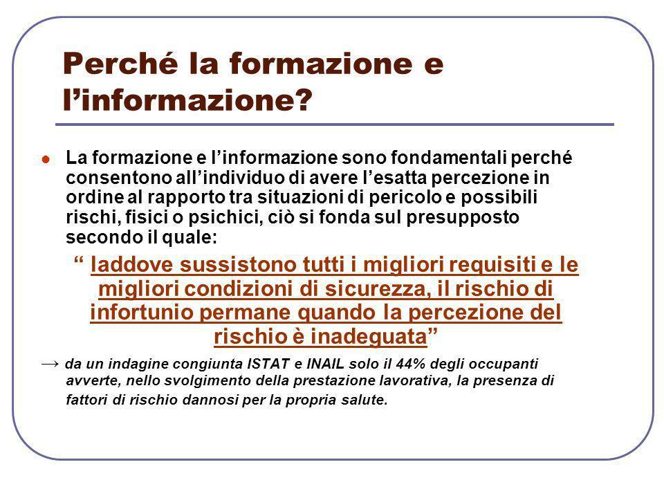 Perché la formazione e l'informazione
