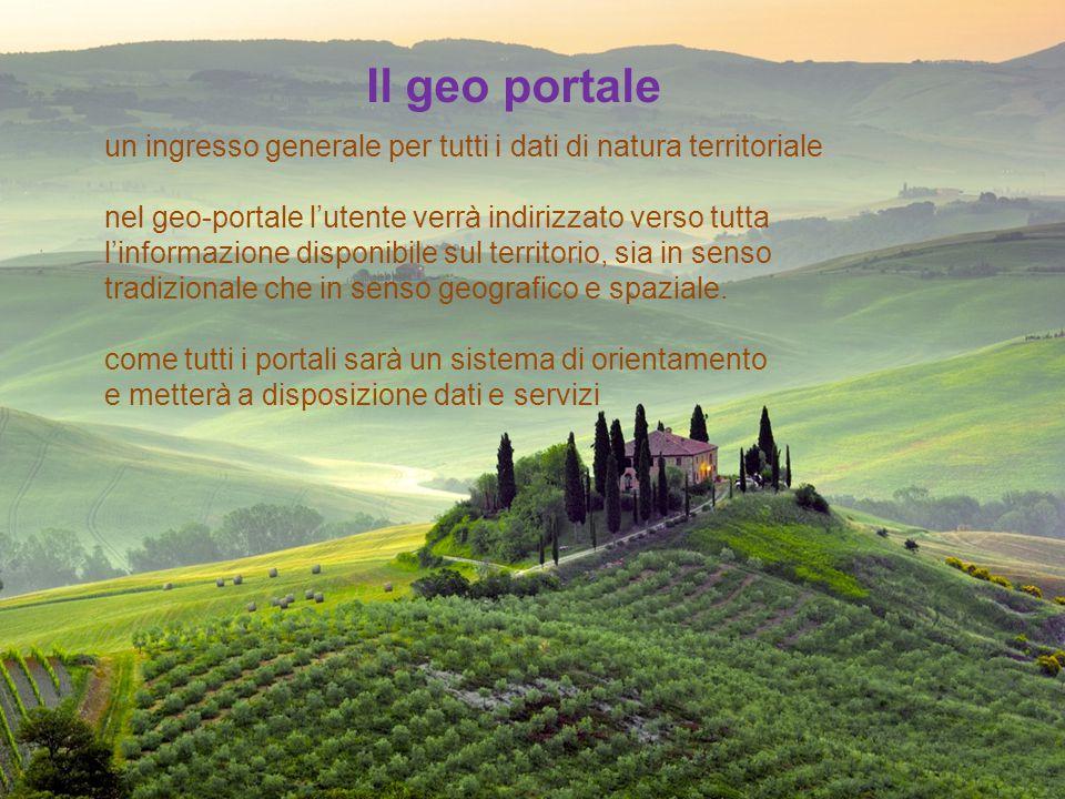Il geo portale un ingresso generale per tutti i dati di natura territoriale.