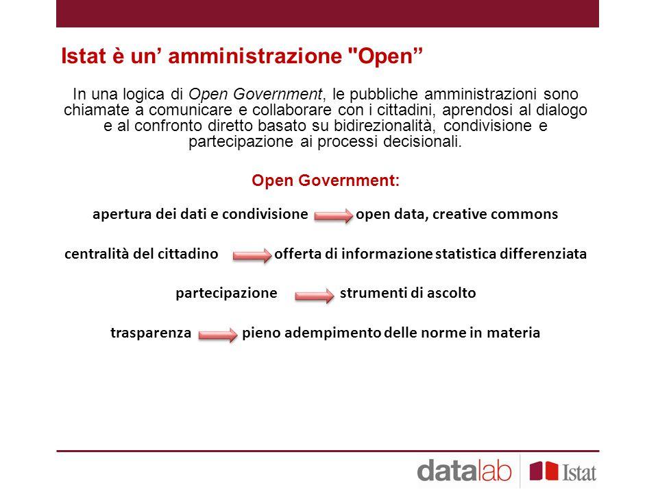 Istat è un' amministrazione Open