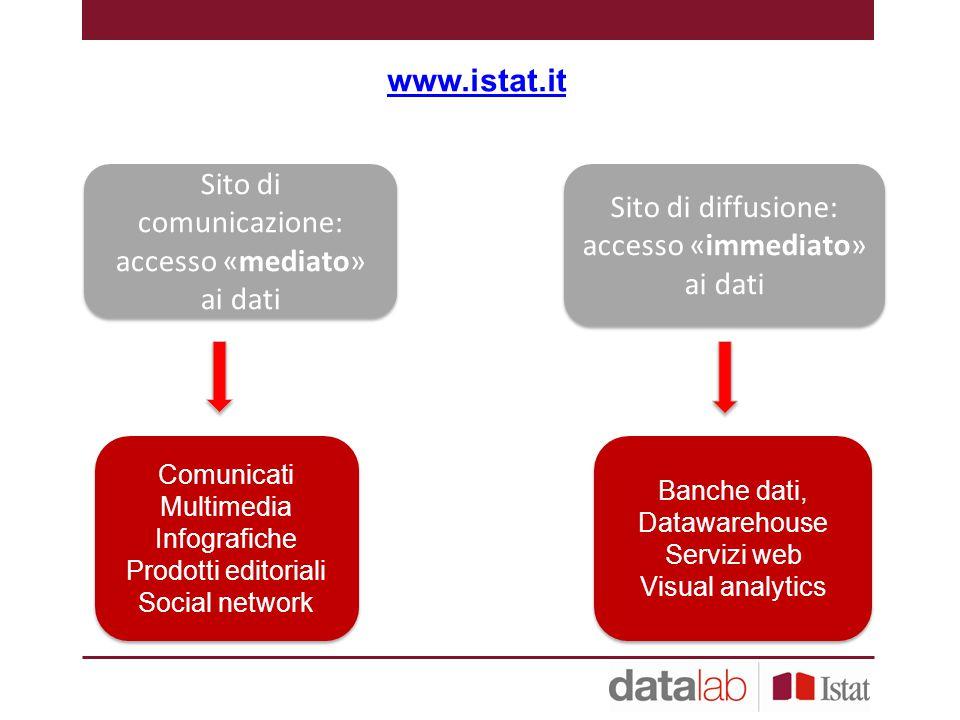 Sito di comunicazione: accesso «mediato» ai dati