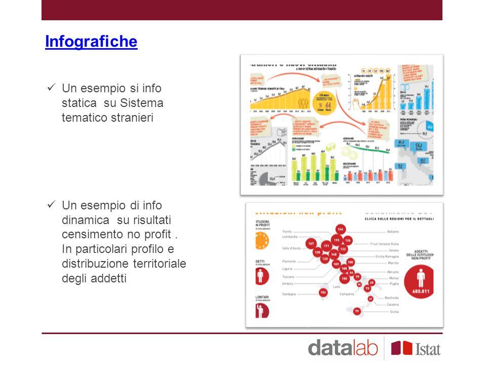 Infografiche Un esempio si info statica su Sistema tematico stranieri