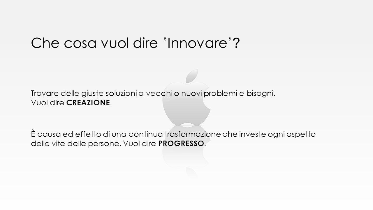 Che cosa vuol dire 'Innovare'