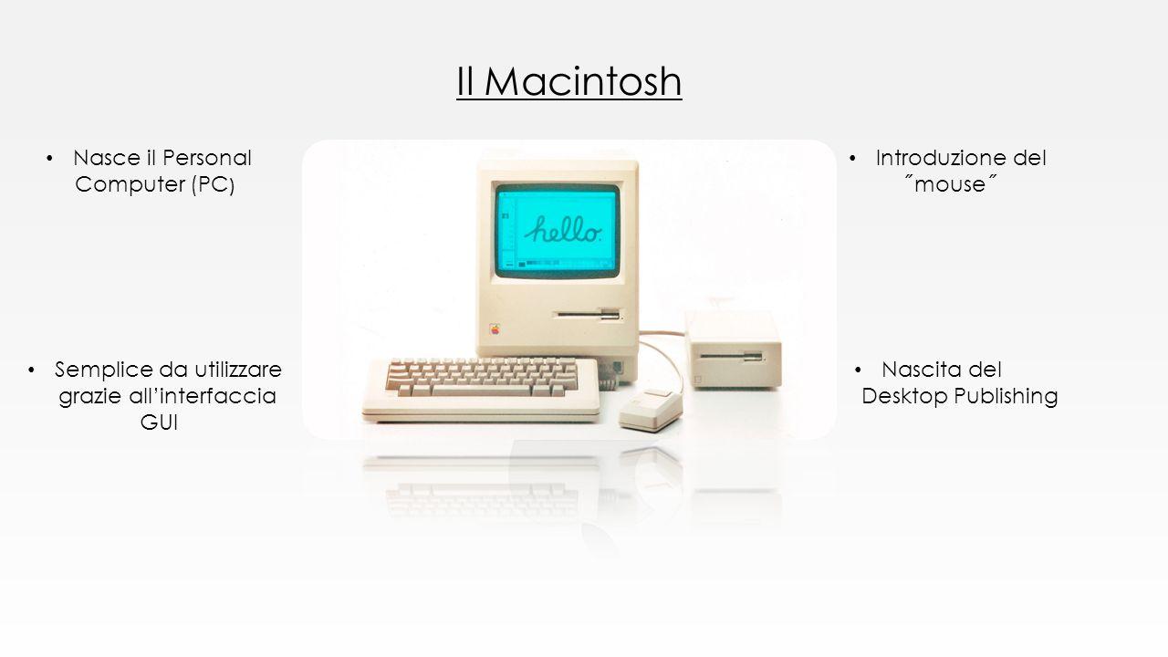 Il Macintosh Nasce il Personal Computer (PC) Introduzione del ˝mouse˝