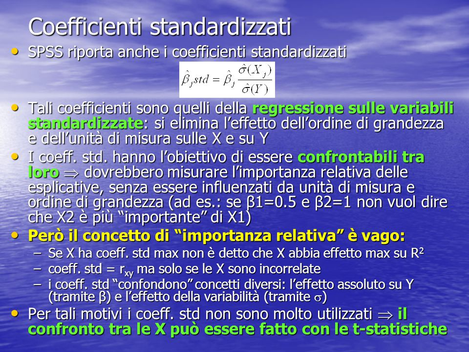 Coefficienti standardizzati