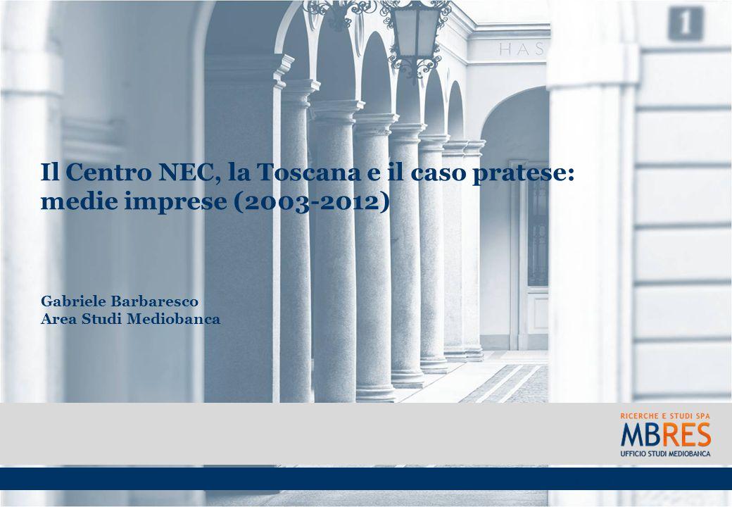 Il Centro NEC, la Toscana e il caso pratese: medie imprese (2003-2012)