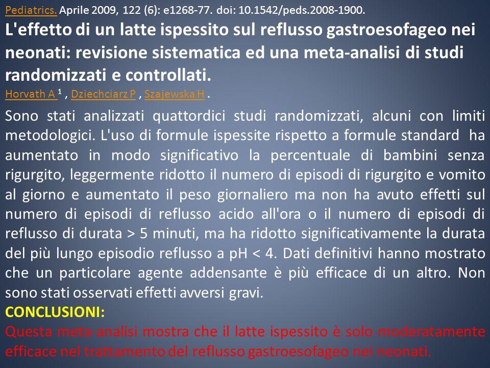 Pediatrics. Aprile 2009, 122 (6): e1268-77. doi: 10. 1542/peds