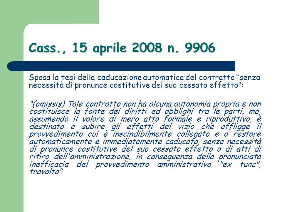 Cass., 15 aprile 2008 n. 9906