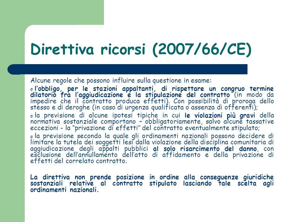 Direttiva ricorsi (2007/66/CE)
