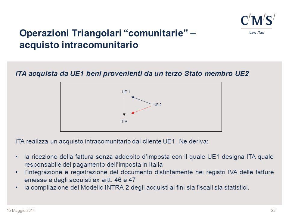 Operazioni Triangolari comunitarie – acquisto intracomunitario