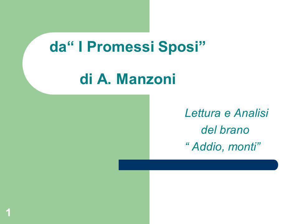 da I Promessi Sposi di A. Manzoni
